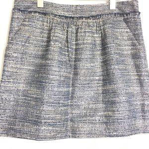 GAP Women's Blue Silver Skirt SZ 10